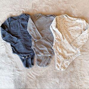 GAP Baby First Favorites Bodysuits Set of 3 18-24M